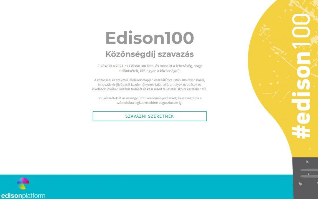 Edison 100 – Közönségdíj szavazás