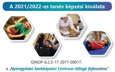 Képzési kínálatunk a 2021/2022. tanévre