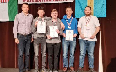 Bolyai matematika döntő – országos 1. helyezés